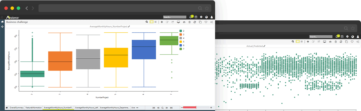 Analance Advanced Analytics Screenshots